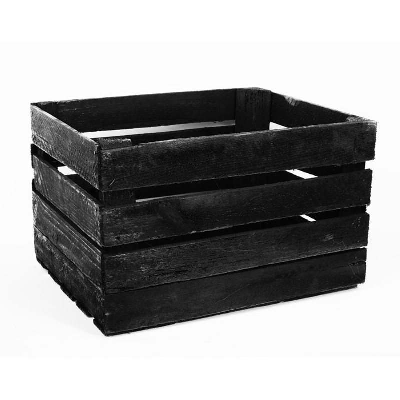Black apple crate king of crates for Used apple crates