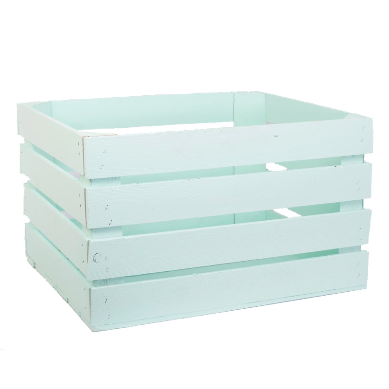 Mint green apple crates king of crates for Used apple crates