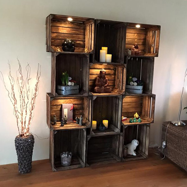 Used Apple Crates with Lights