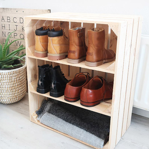 Apple Crate for Shoe Storage